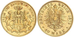 10 Mark States of Germany Oro