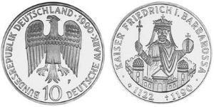 10 Mark Alemania (1990 - ) Plata