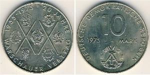 10 Mark Repubblica Democratica Tedesca (1949-1990) Rame/Nichel