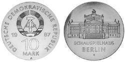 10 Mark Deutsche Demokratische Republik (1949-1990) Silber
