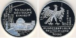 10 Mark Federal Republic of Germany (1990 - ) Silver