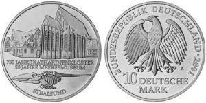 10 Mark Federal Republic of Germany (1990 - ) Silver