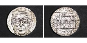 10 Mark Finland (1917 - ) Silver Juho Kusti Paasikivi