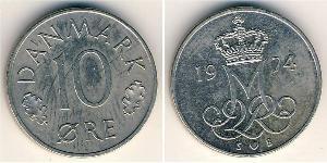 10 Ore Denmark Copper/Nickel