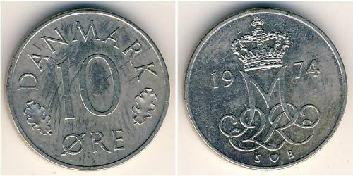 10 Ore Danemark Cuivre/Nickel