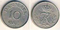 10 Ore Dänemark Kupfer/Nickel