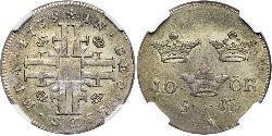 10 Ore Schweden Silber