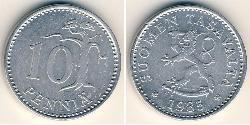 10 Penny Finland (1917 - ) Aluminium