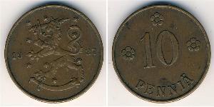 10 Penny Finland (1917 - ) Copper