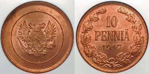 10 Penny Finnland (1917 - ) Kupfer