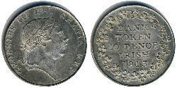 10 Penny Ireland (1922 - ) Silver George III (1738-1820)