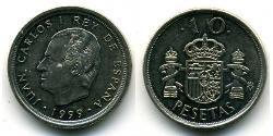 10 Peseta Kingdom of Spain (1976 - ) Copper/Nickel