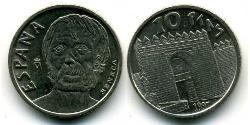 10 Peseta Kingdom of Spain (1976 - ) Copper/Nickel Seneca the Younger (4 BC – AD 65)
