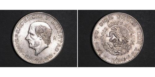 10 Peso Mexique (1867 - ) Argent Miguel Hidalgo