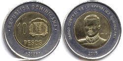 10 Peso República Dominicana Bimetal