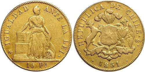 10 Peso Chile Gold