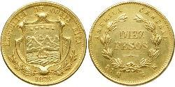 10 Peso Costa Rica Gold