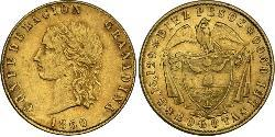 10 Peso Granadine Confederation (1858 - 1863) Gold
