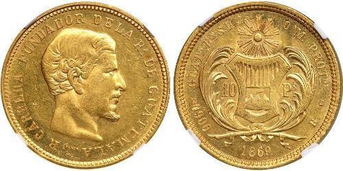10 Peso Guatemala Gold Rafael Carrera