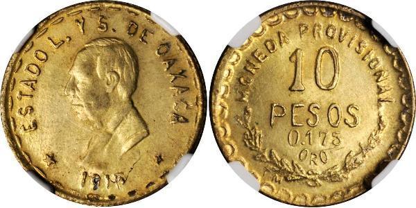 10 Peso Mexiko (1867 - ) Gold