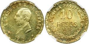 10 Peso United Mexican States (1867 - ) Gold