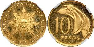 10 Peso Uruguay Gold