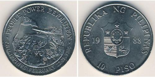 10 Peso Philippinen Kupfer/Nickel
