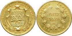 10 Peso Costa Rica Or