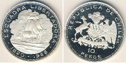10 Peso Chile Silber