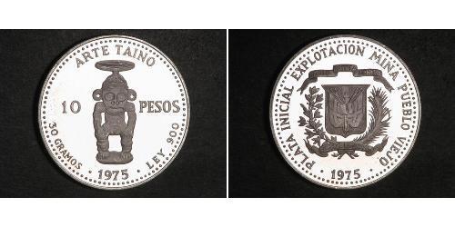 10 Peso Dominikanische Republik Silber