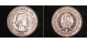 10 Peso Uruguay Silber
