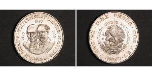 10 Peso United Mexican States (1867 - ) Silver Miguel Hidalgo