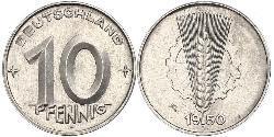 10 Pfennig German Democratic Republic (1949-1990) Aluminium
