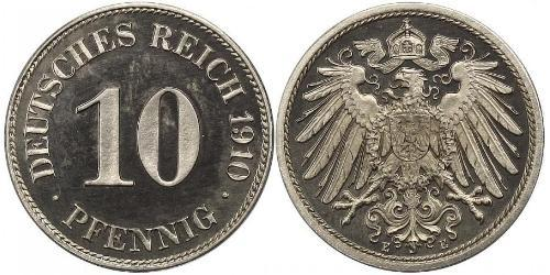 10 Pfennig Germany Copper/Nickel