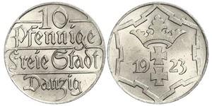 10 Pfennig Gdansk (1920-1939) Cuivre/Nickel