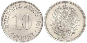 10 Pfennig Alemania Níquel/Cobre