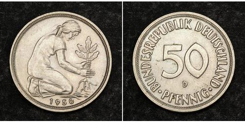 10 Pfennig Germania Ovest (1949-1990) Rame