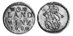10 Pfennig Electorate of Bavaria (1623 - 1806) Silver