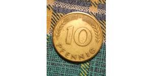 10 Pfennig West Germany (1949-1990) Steel/Brass