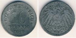 10 Pfennig Germany Zinc
