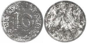 10 Pfennig Nazi Germany (1933-1945) Zinc