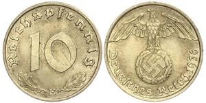 10 Pfennig 納粹德國 (1933 - 1945)