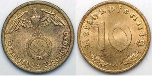 10 Pfennig Germania nazista (1933-1945)