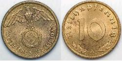 10 Pfennig Nazi Germany (1933-1945)
