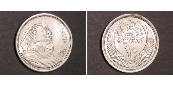 10 Piastre Kingdom of Egypt (1922 - 1953) Silver