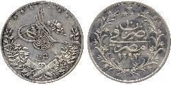 10 Piastre / 10 Kurush Impero ottomano (1299-1923) Argento Abdul-Hamid II (1842 - 1918)