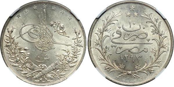 10 Piastre / 10 Kurush Ottoman Empire (1299-1923) Silver