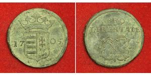 10 Poltura 匈牙利 銅 Francis II Rákóczi (1676 – 1735)