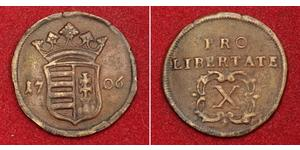 10 Poltura Hungary Copper Francis II Rákóczi (1676 – 1735)