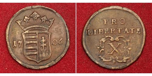 10 Poltura Ungarn Kupfer Franz II. Rákóczi(1676 – 1735)